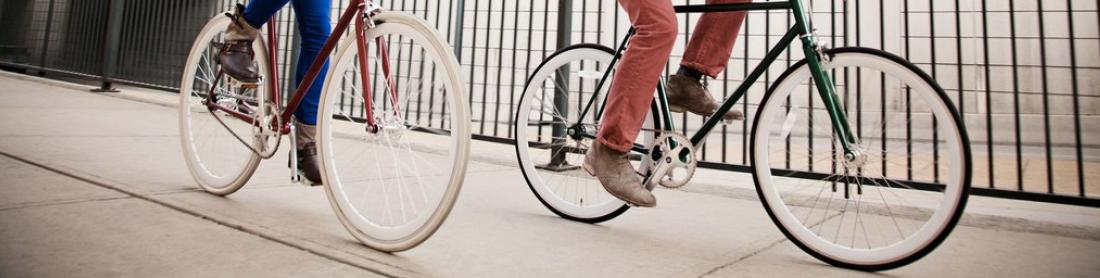 Personnes à vélo